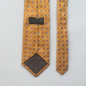 Robert talbott tie xl gold blue silk usa pa0791